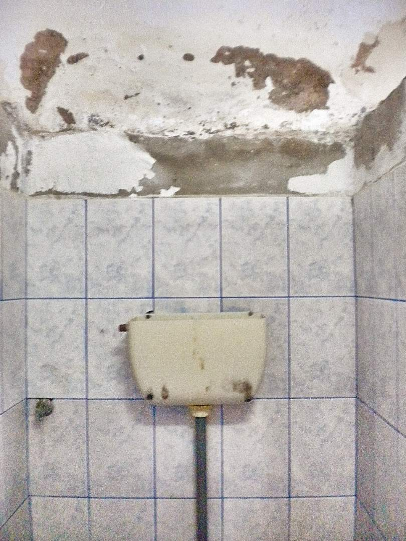broken toilet