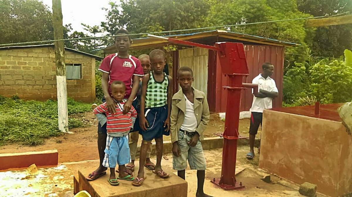Conclusion of Ntobroso Borehole Project - Ghana