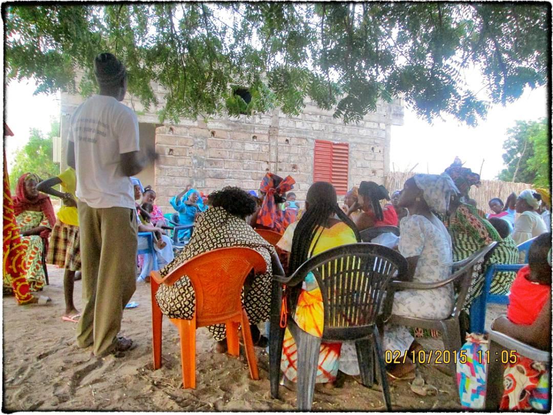 Birkelane Village Meeting, Senegal
