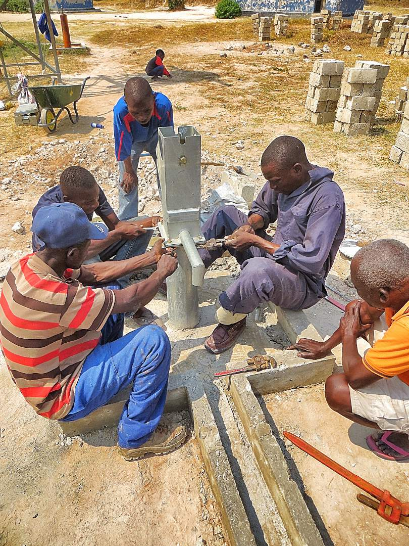 Finishing up a new well
