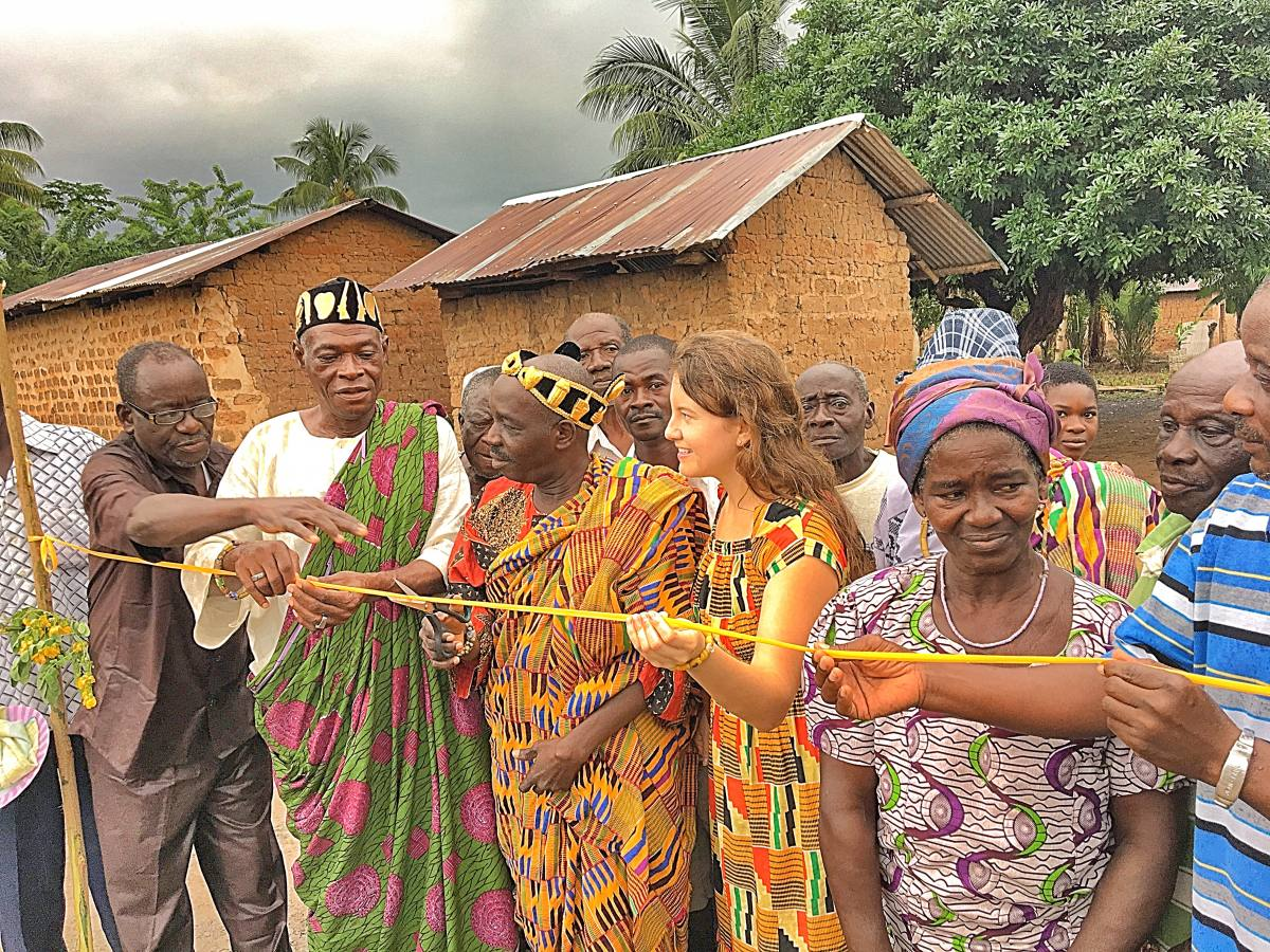 Togo Ribbon Cutting for Project