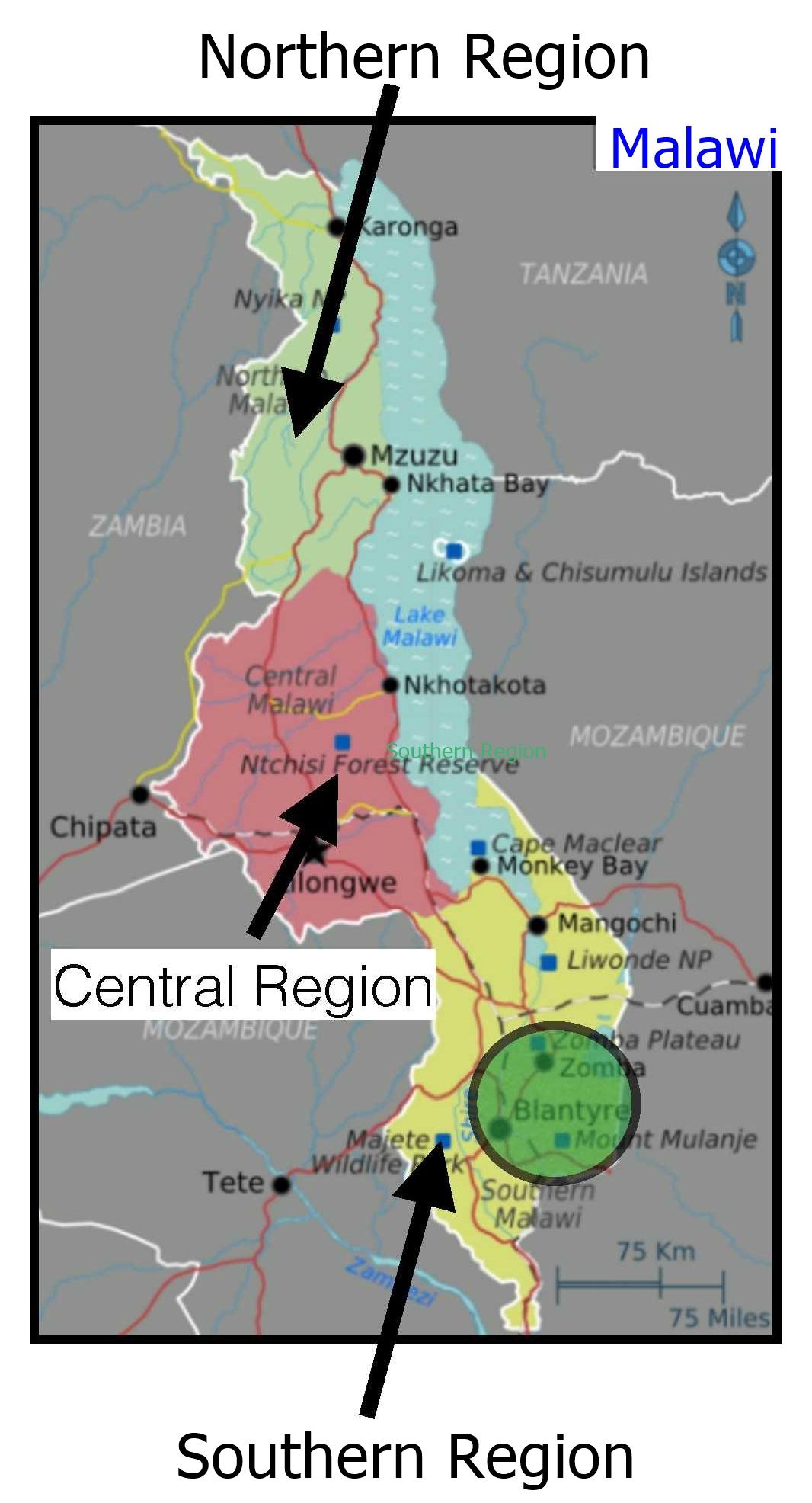 Malawi Regions