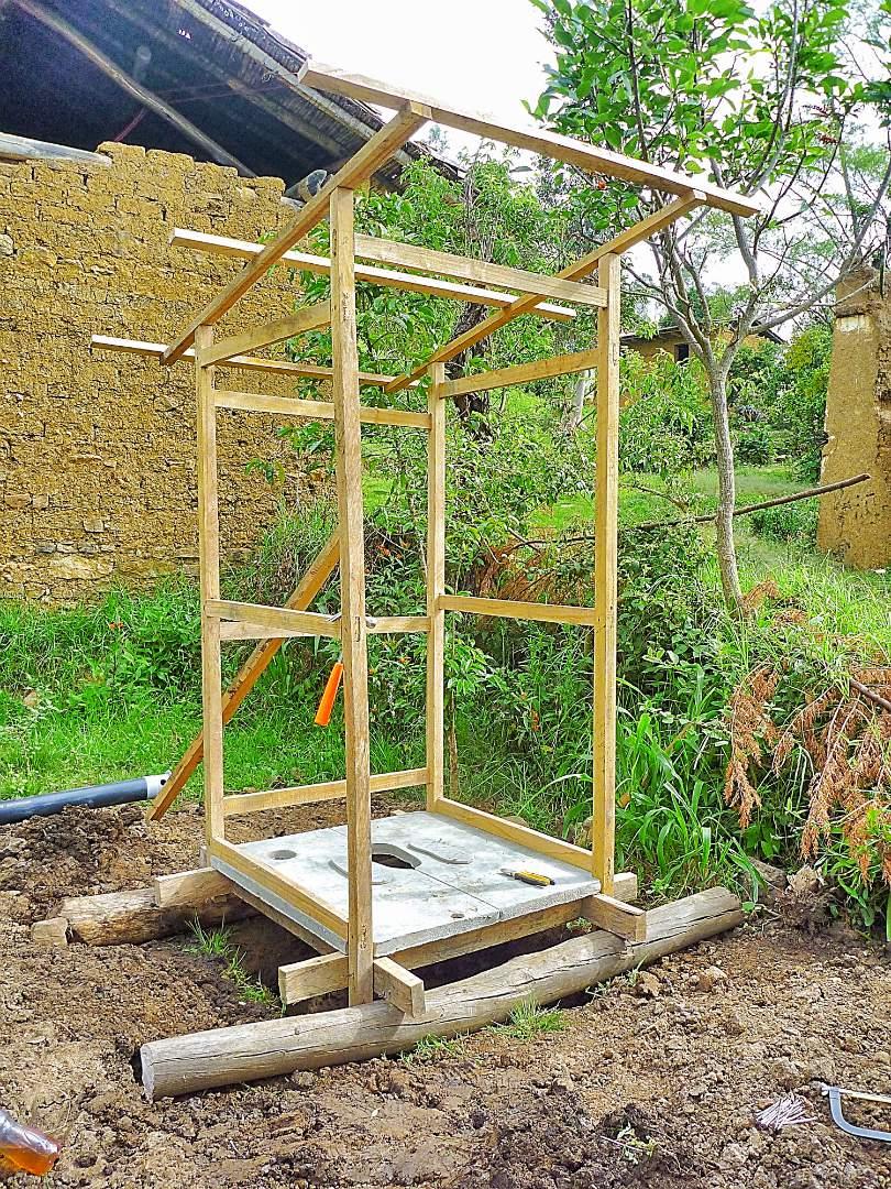 framework of the latrine