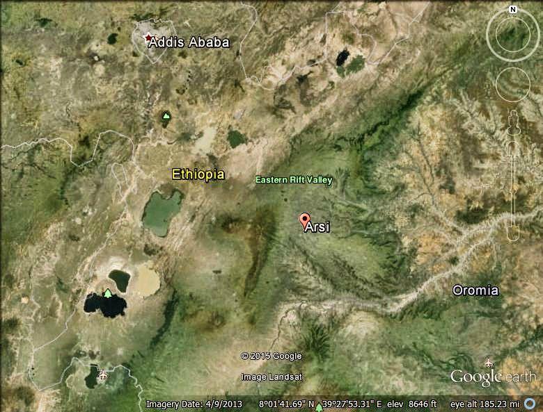 West Arsi Map