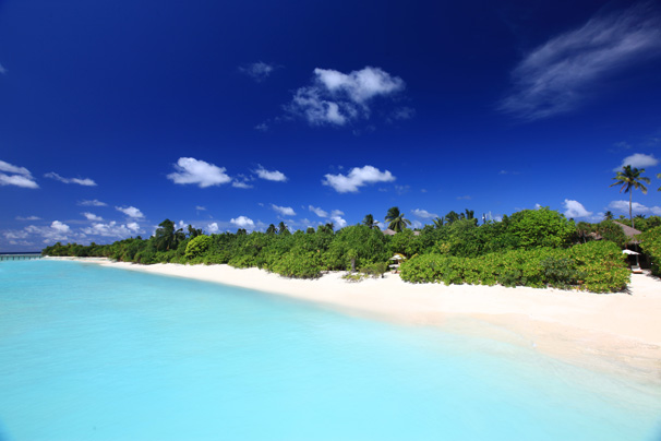 Beach at Laamu, Maldives