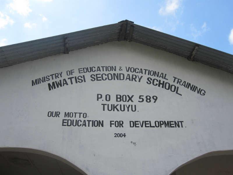 Mwatisi Secondary School Rainwater Catchment Project - Tanzania
