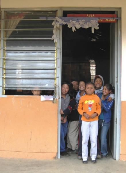 Kids in Door - Mexico