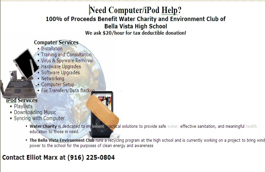 Computer Help for Water Charity