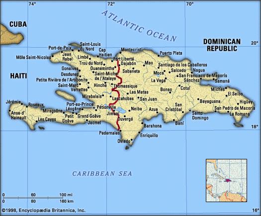 Dominican Republic & Haiti Map