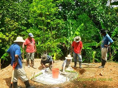 Pouring Concrete - Panama