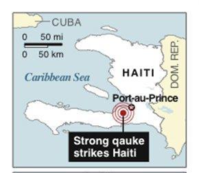 Earthquake Map - Haiti