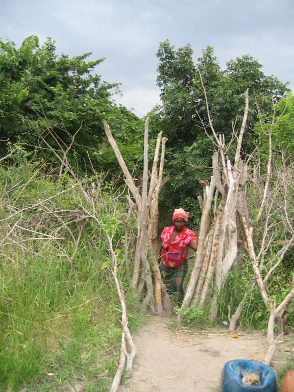 Lady on Path - Swaziland