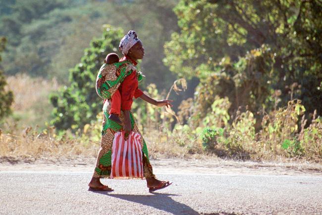 Woman Walking - Tanzania