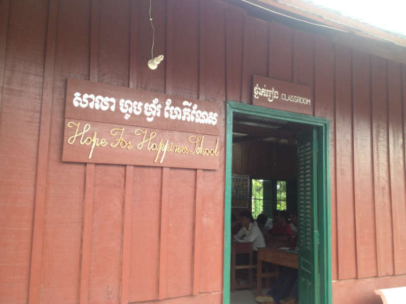 Hope For Happiness School and the Cambodian Weaving Village Angtasom Water Project - Cambodia