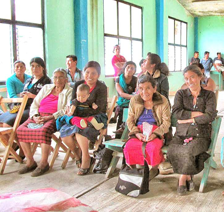 Women's class on recycling and grey water