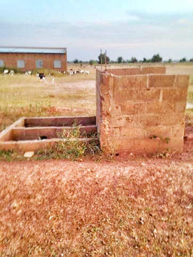 Partially completed latrine