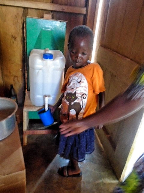 Fresh water for a child