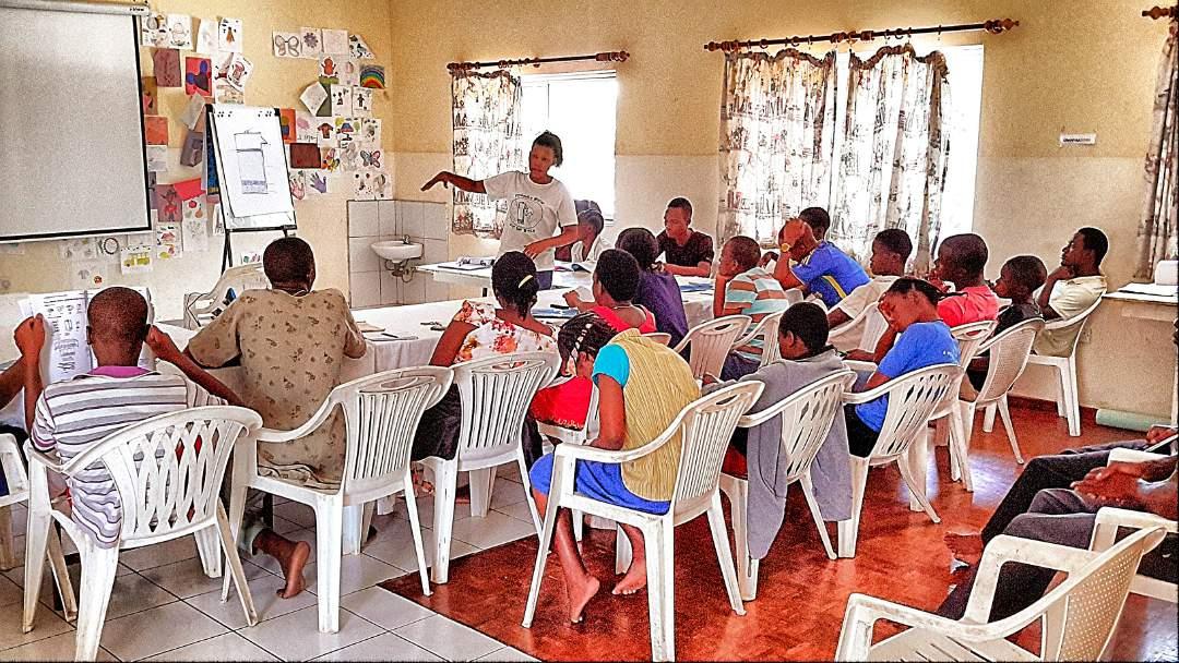 Training in progress, VOH Tanzania