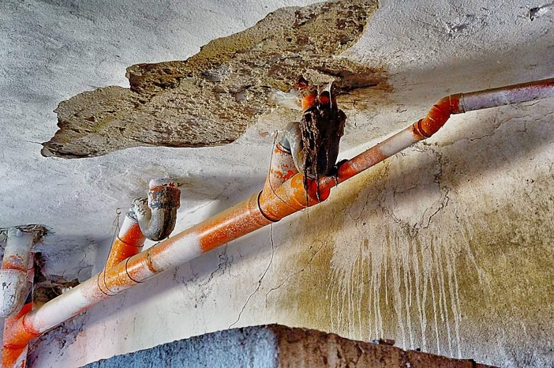 ceiling falling apart