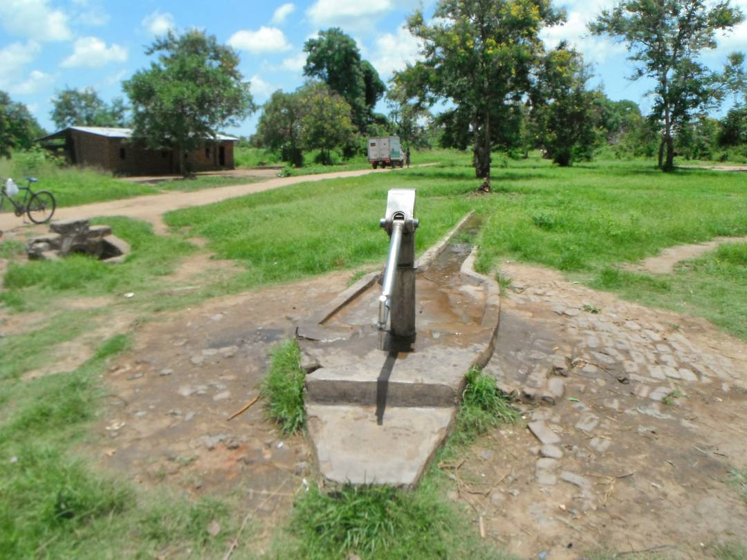 Borehole and pump in Salima District, Malawi