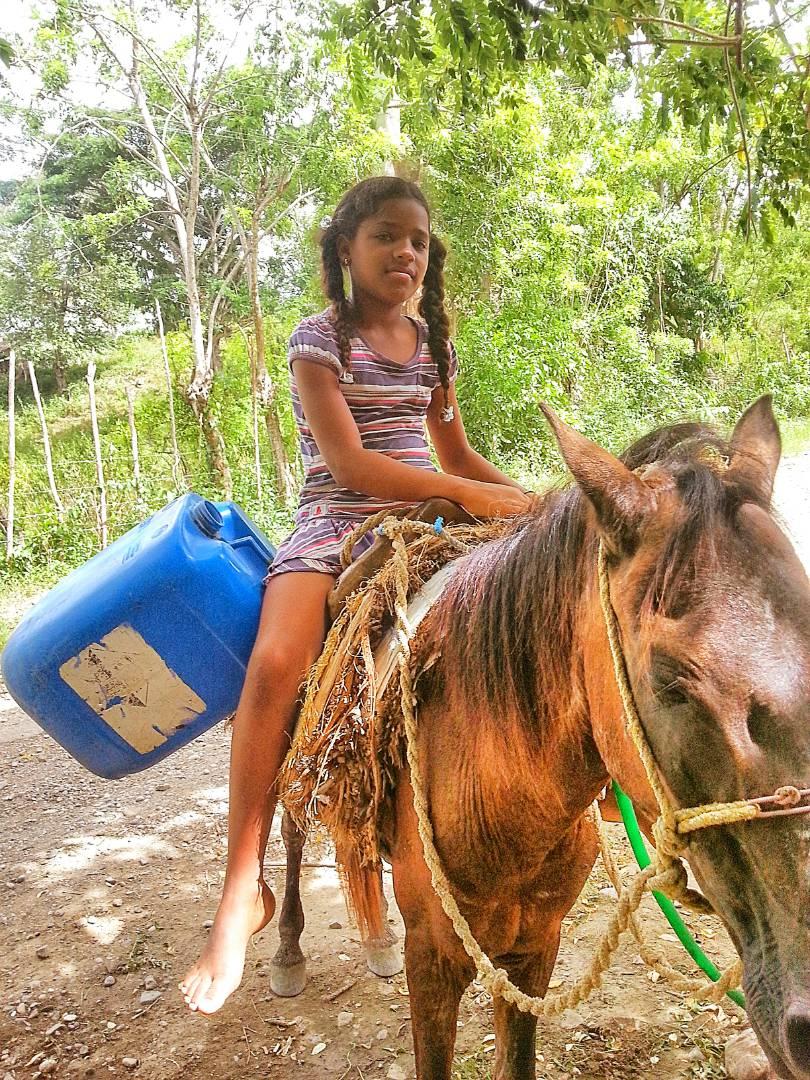 Getting Water by Mule