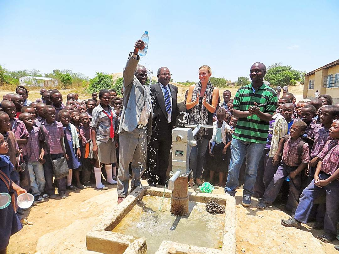 Community Celebration of the new well