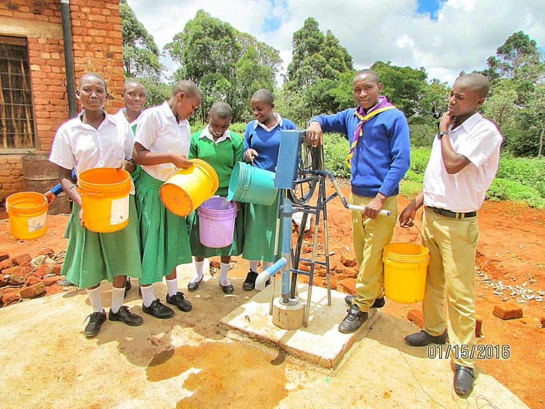 Students at the Hagati Secondary School