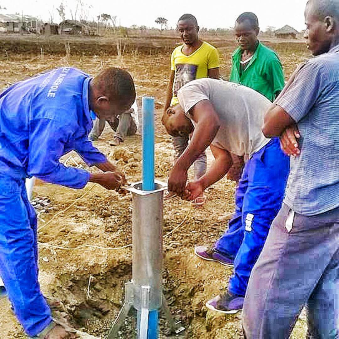 Men working on the well