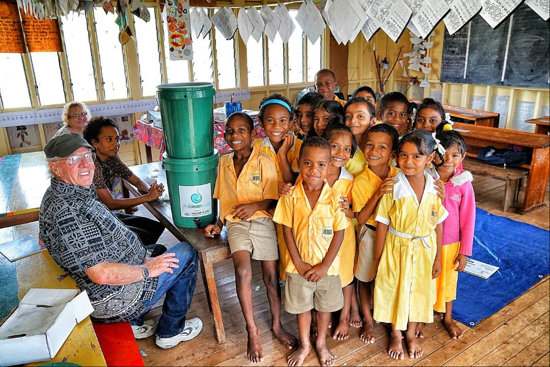 Classroom in Fiji Primary School